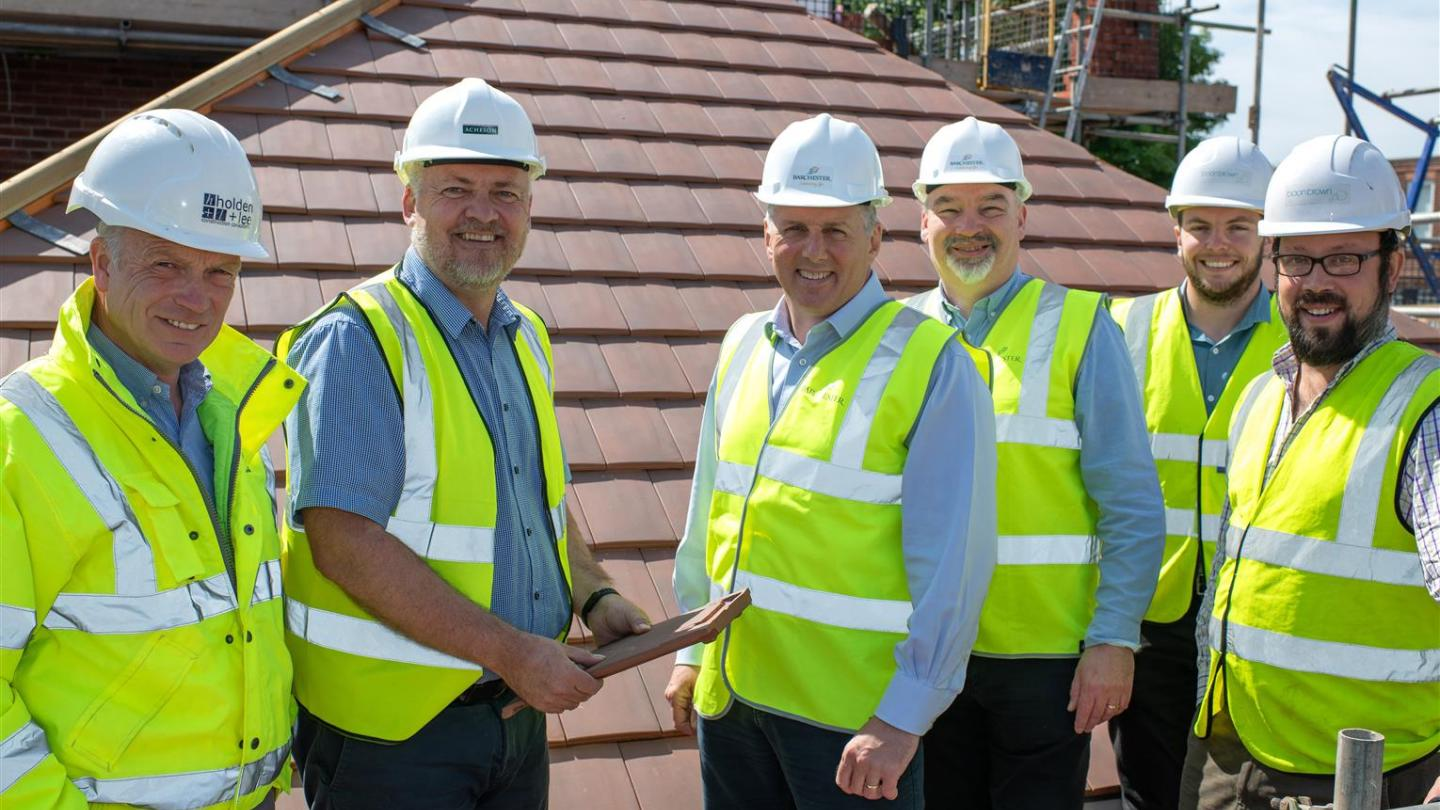 Topping out ceremony at Sherborne care home