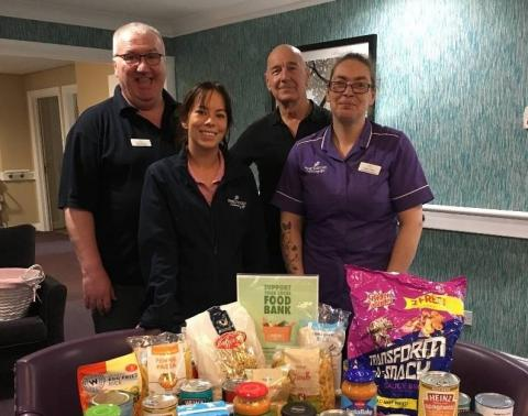 Station Court Supports Food Bank Collections