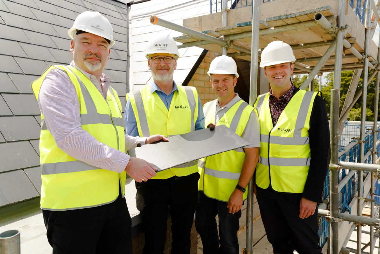 Barchester Healthcare's Newest Care Home in Melbourn Reaches Topping Out Stage