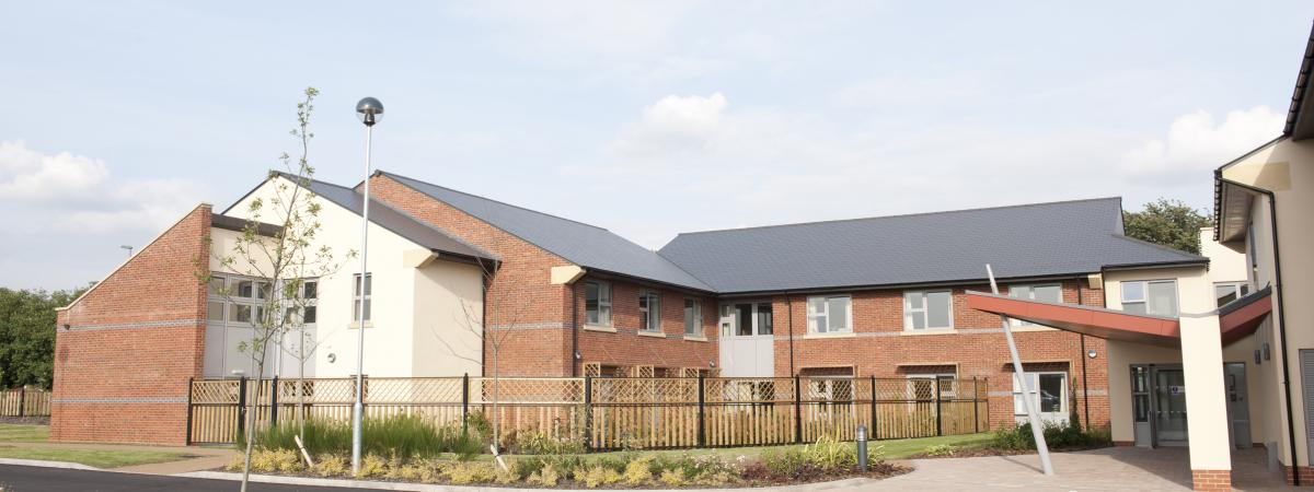View of the 2 storey Lancaster Grange Care Home