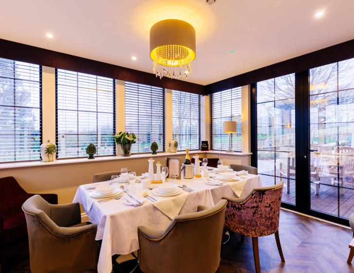 Trinity Manor Care Home private dining room