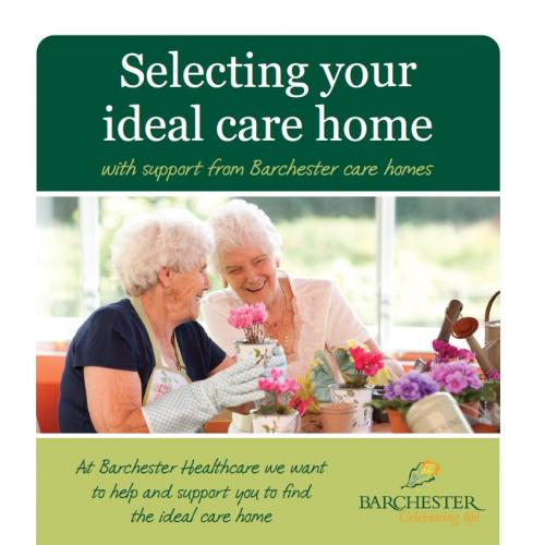 Selecting your ideal care home