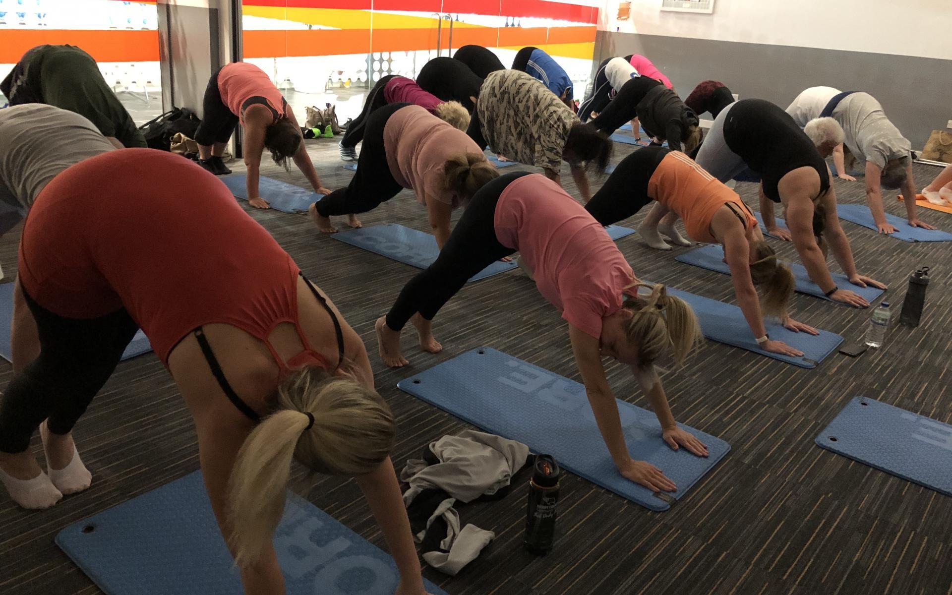 Participants enjoy Fitness Yoga session
