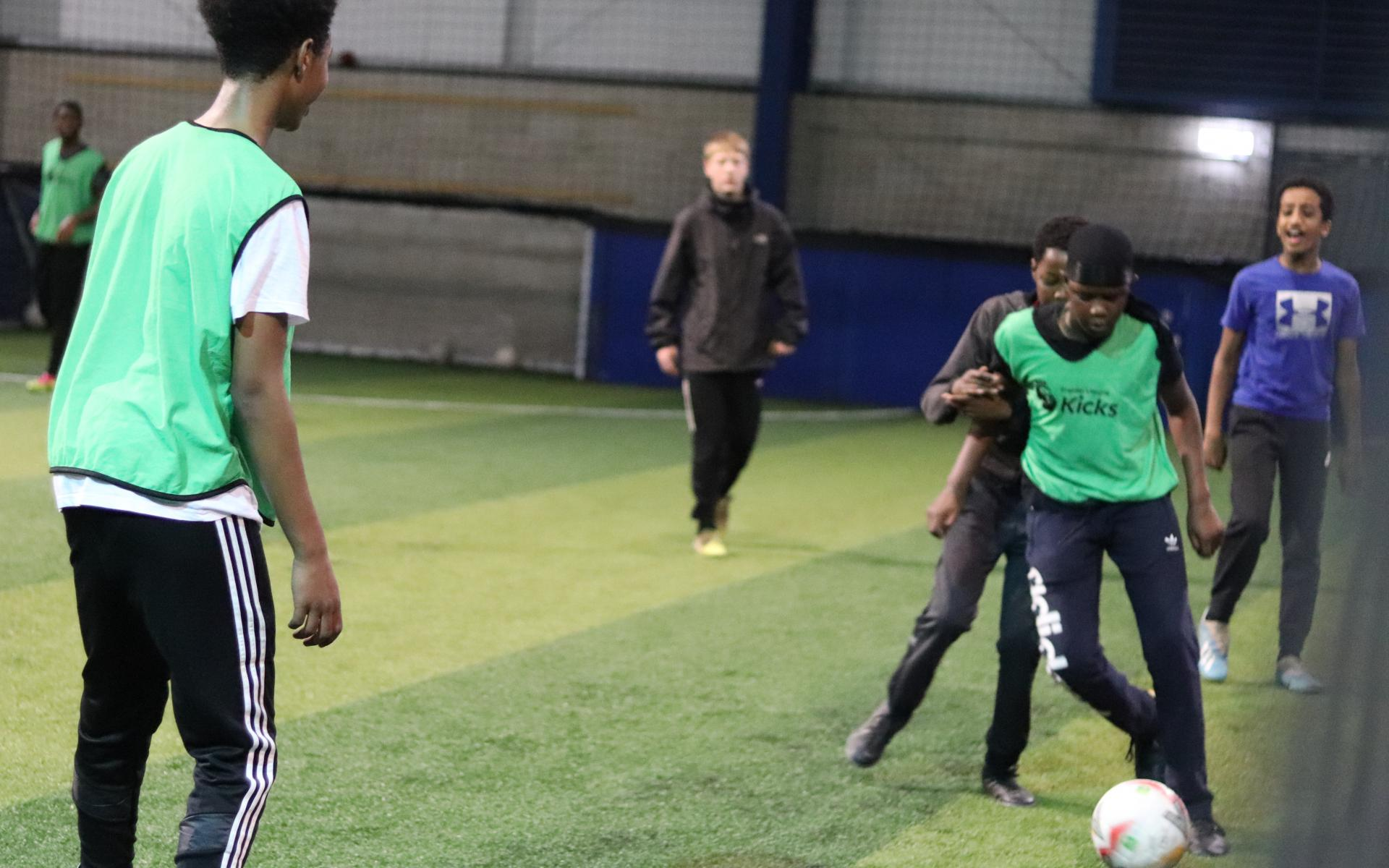 Participants enjoy a Football session
