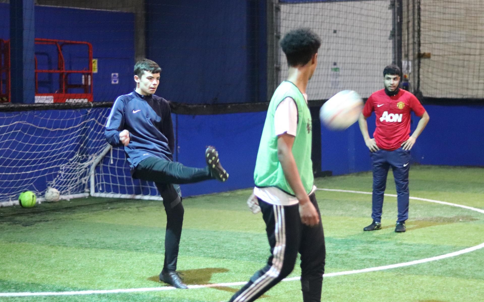 Participant enjoy a PL Kicks session