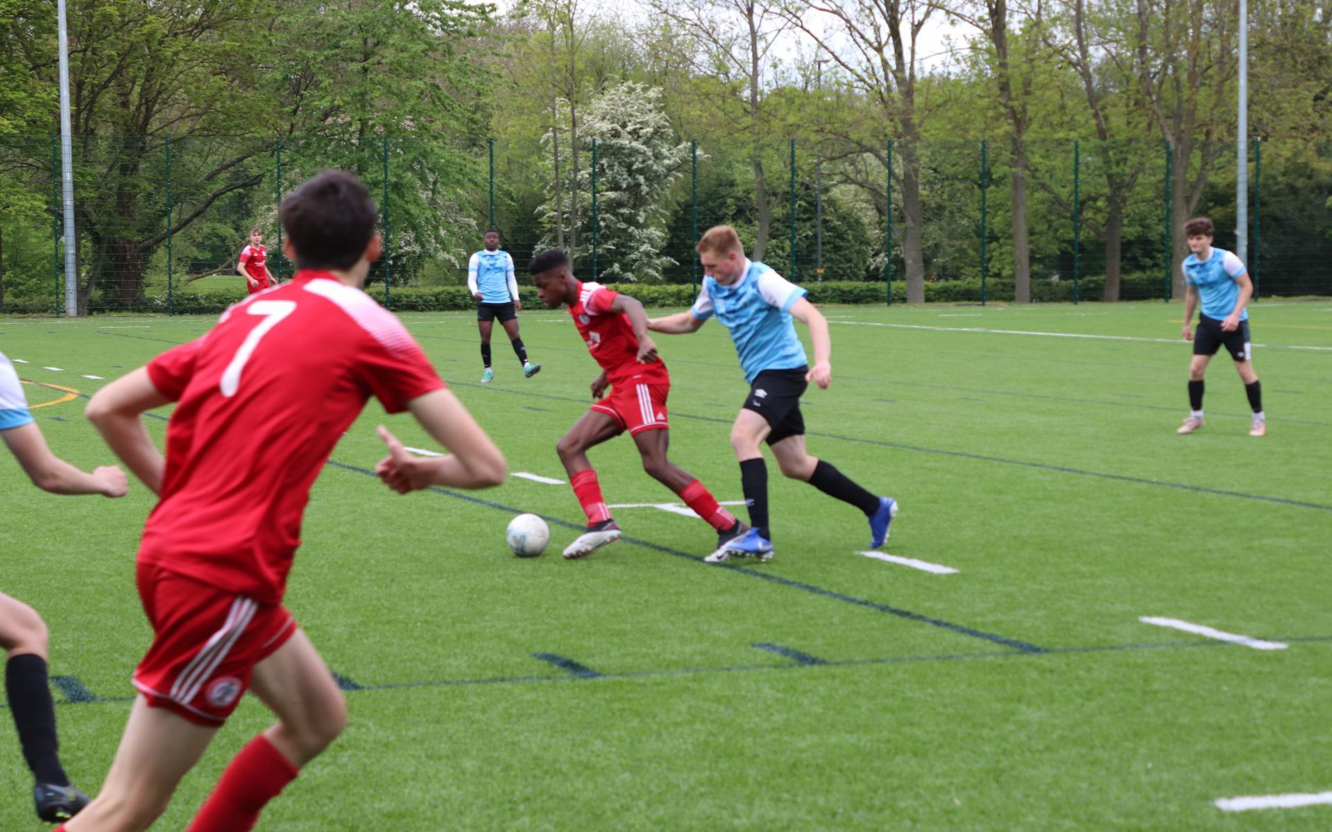 Match action against Accrington Stanley