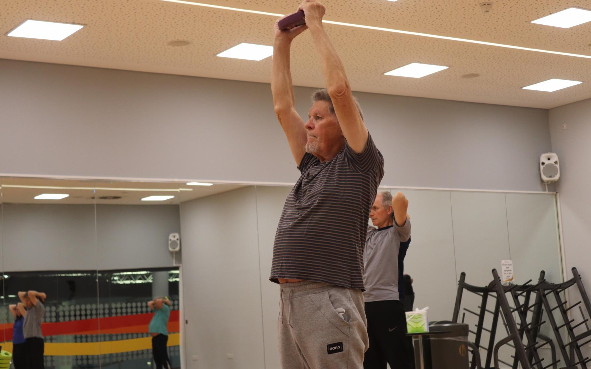 Participants enjoy a strength session