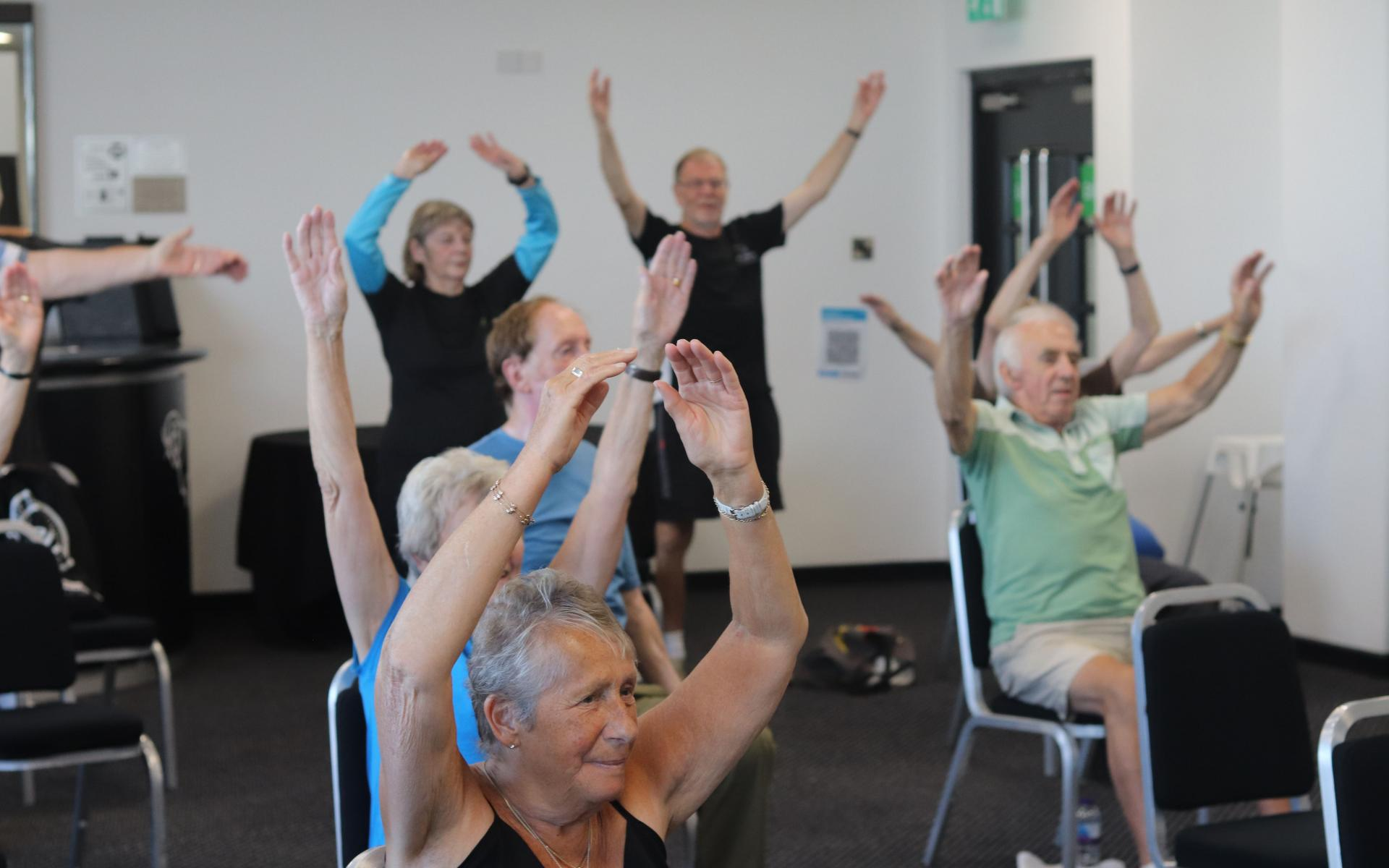 Over 50s enjoy our chair based exercise class