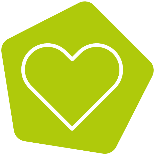 Heart icon lime
