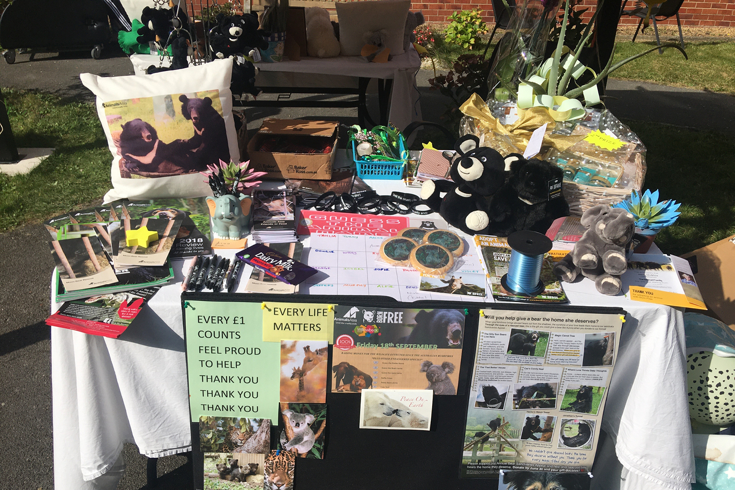 Stand at Willowbeck's Wildlife Awareness Day