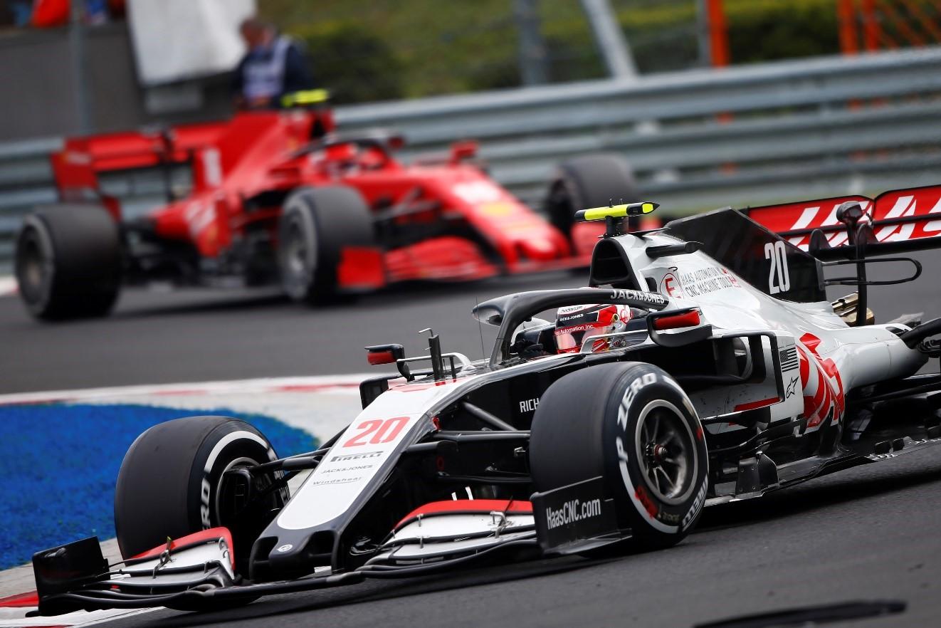 Haas racecar on race track