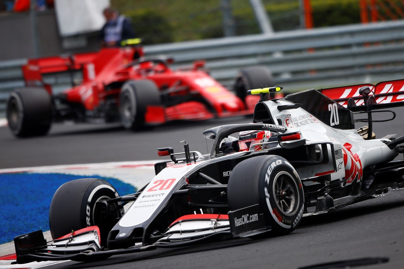 Haas racecar on race track