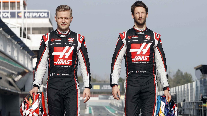 Kevin Magnussen and Romain Grosjean