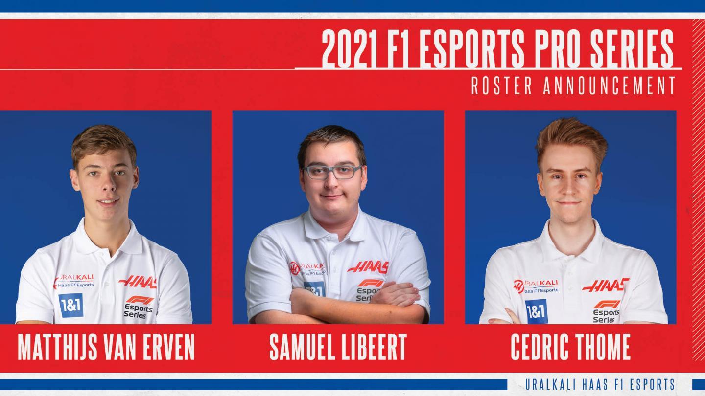 Uralkali Haas F1 Team Esports 2021 Roster