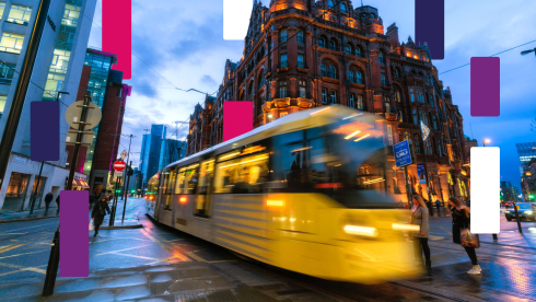 Manchester Tram - city centre image