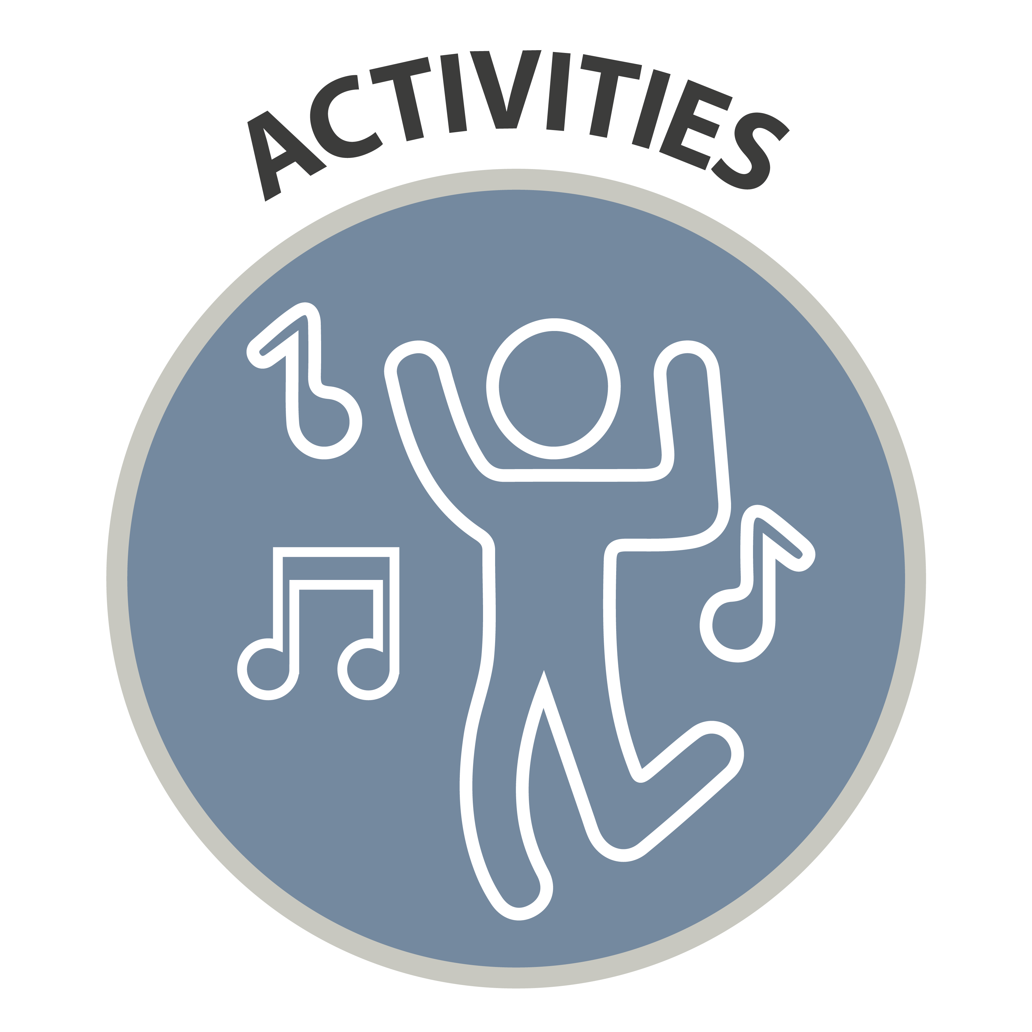 Activities - Icon of person dancing to music