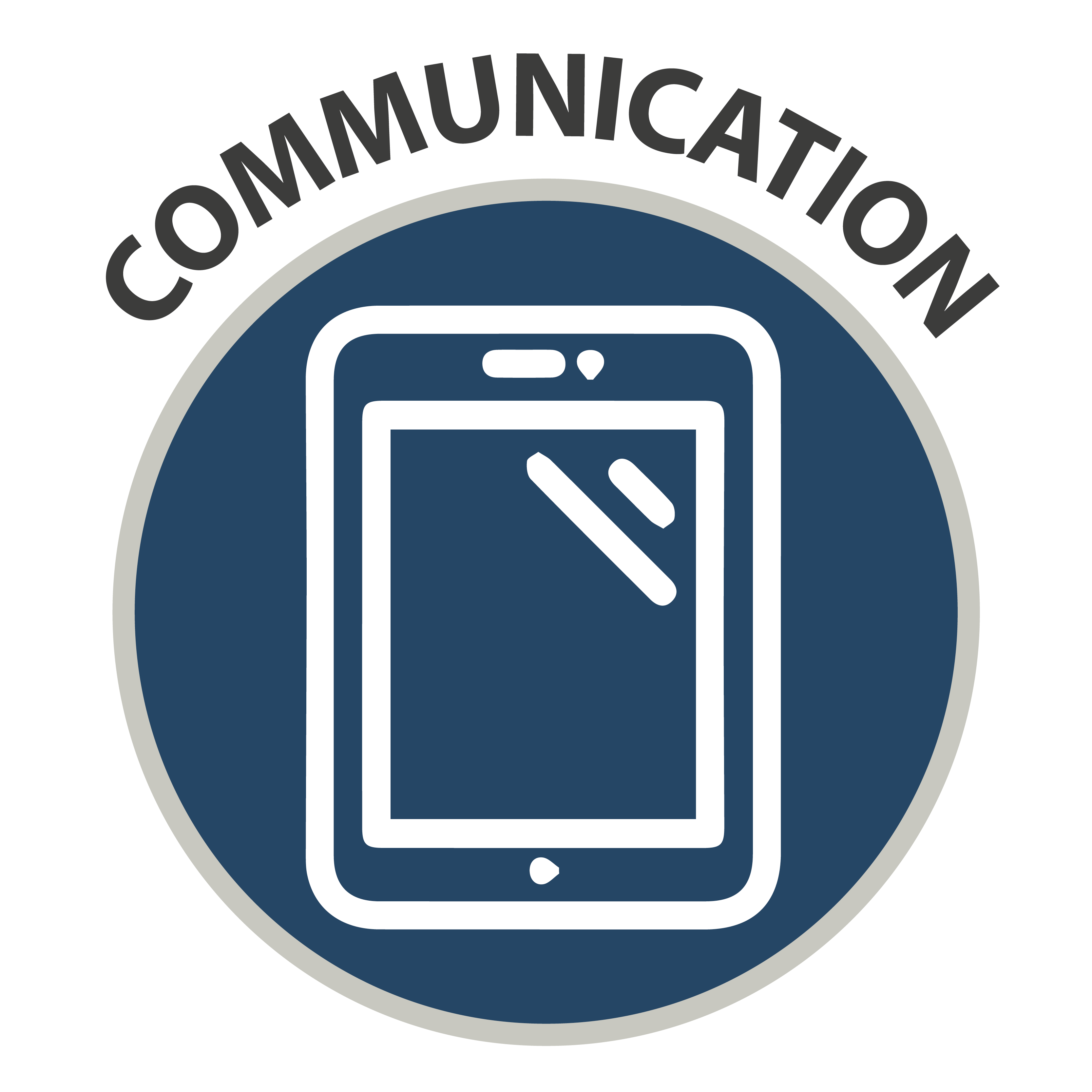 Communication - icon of tablet device