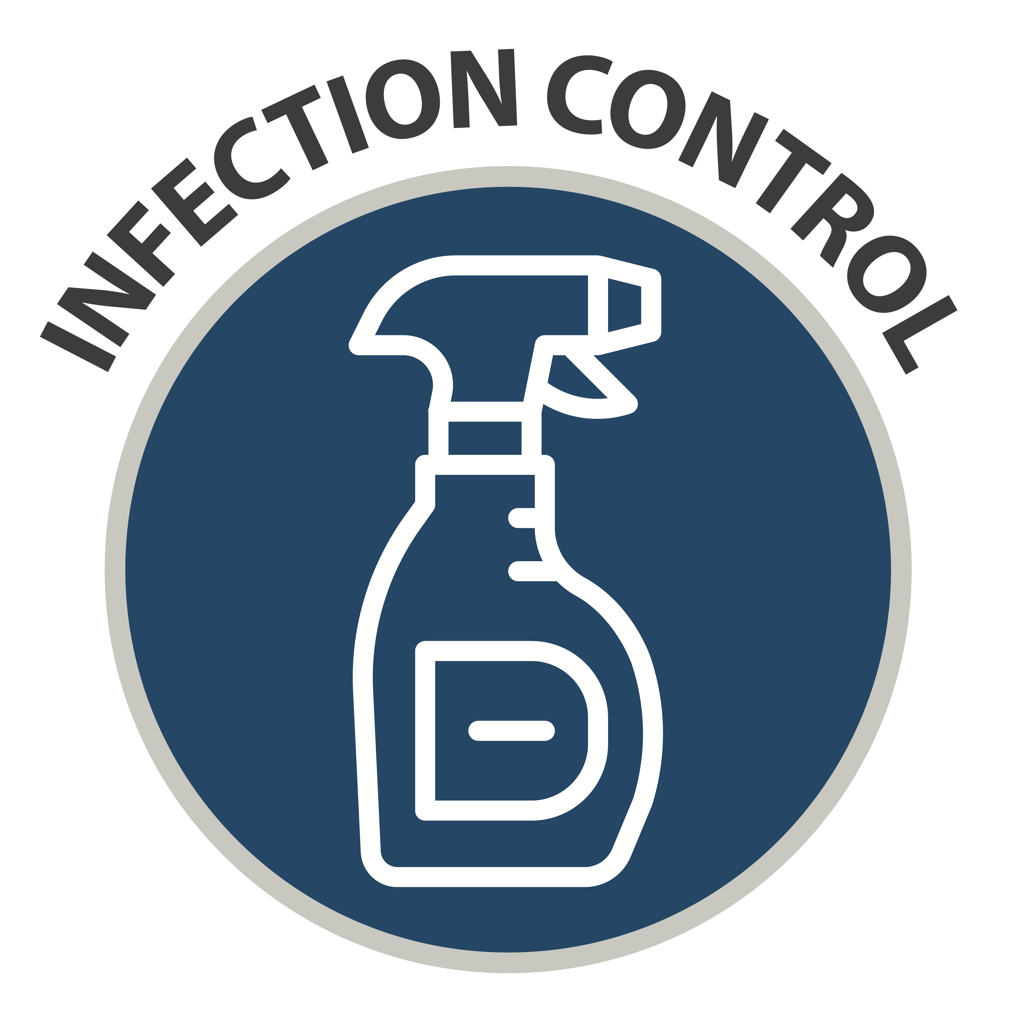 Infection Control - icon of spray bottle