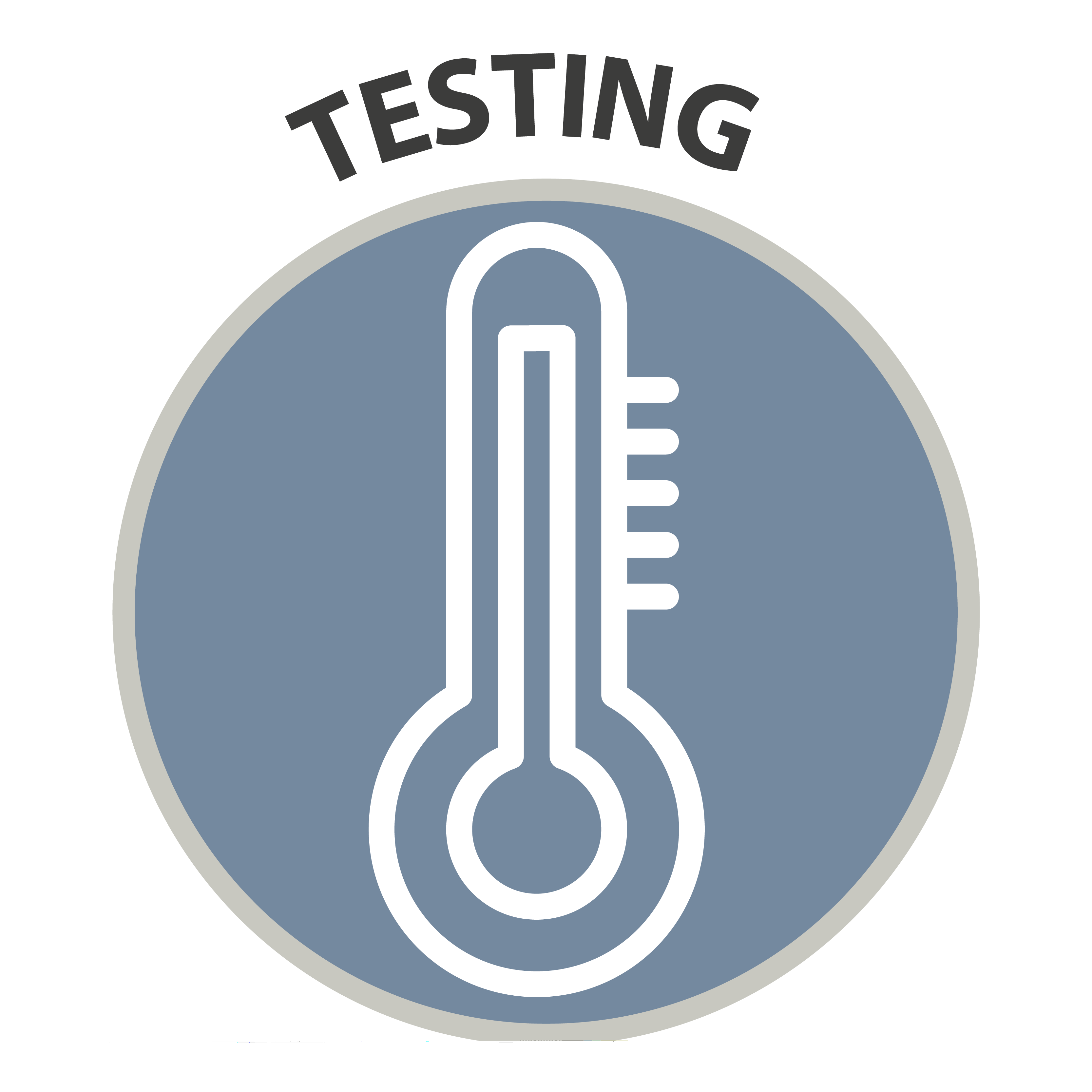 Testing - icon of thermometer