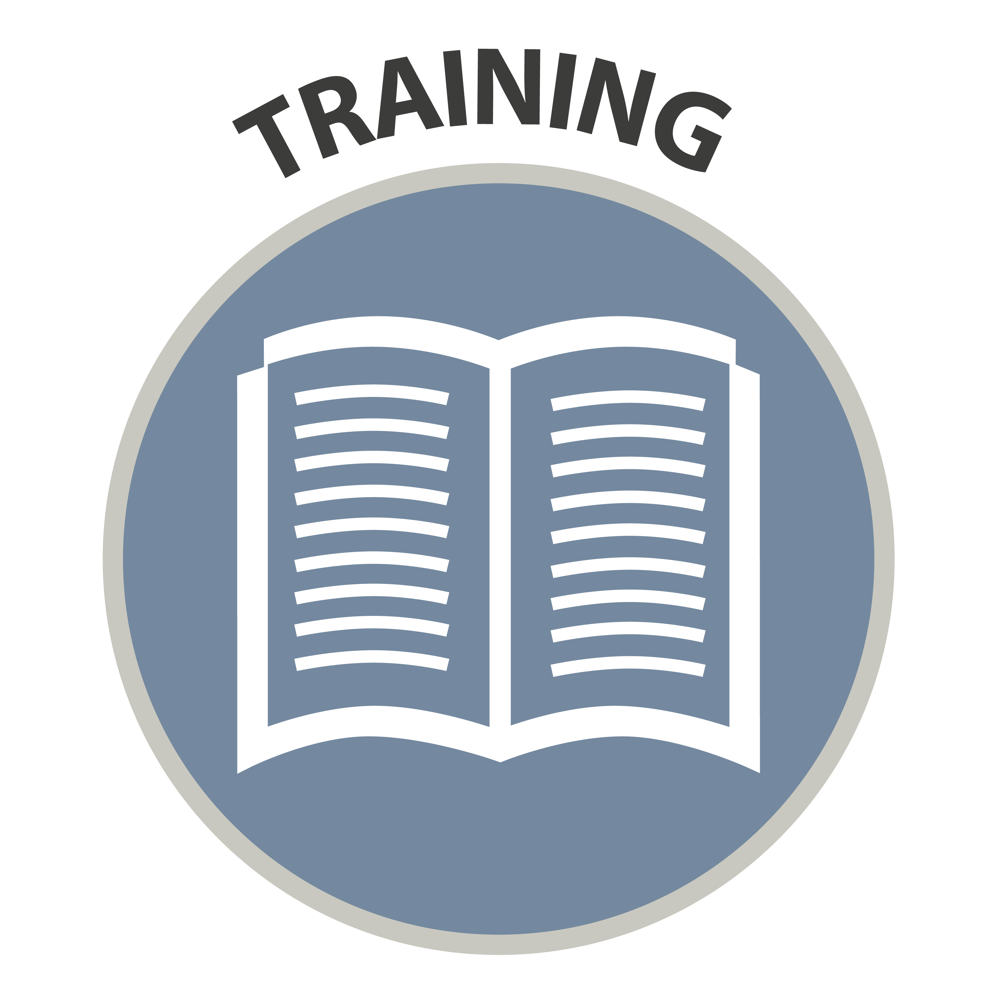 Training - icon of an open book