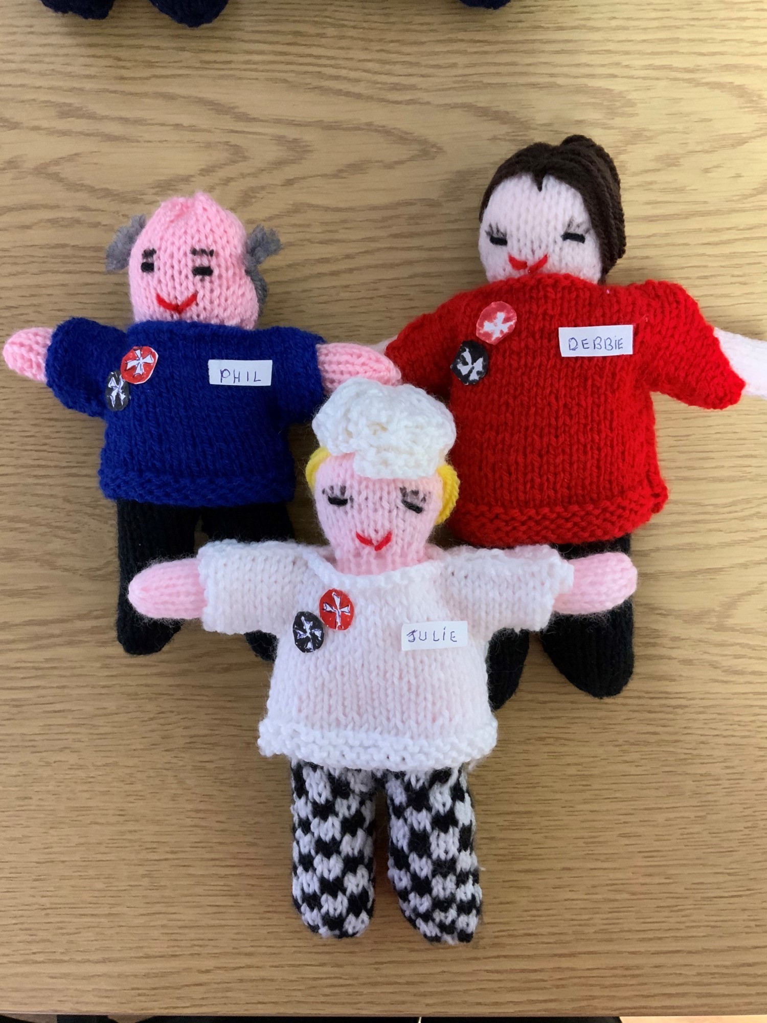 Knitted characters