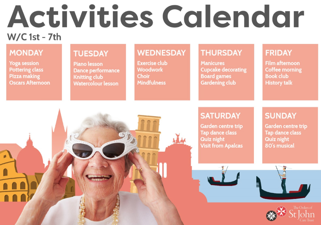 activity timetable