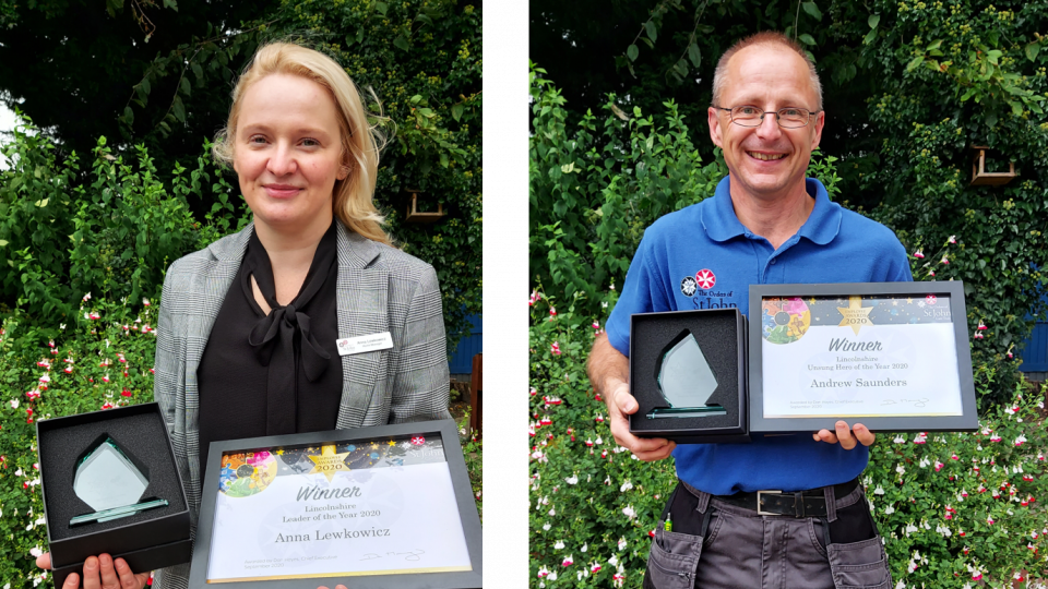 Anna and Andrew with Employee Awards