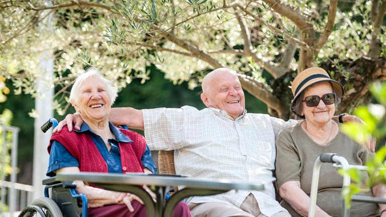 Older people enjoy gardens
