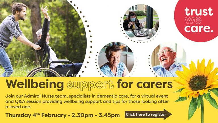 A carer wellbeing virtual event