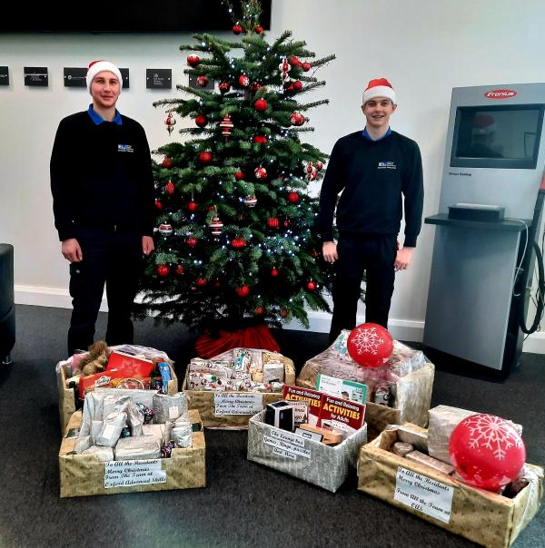 Kind donation by MTC apprentices to Stirlings, Wantage