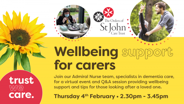 Wellbeing support for carers, a virtual support session.