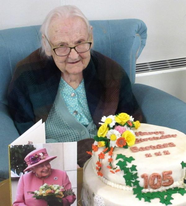 Barbara celebrates her 105th birthday