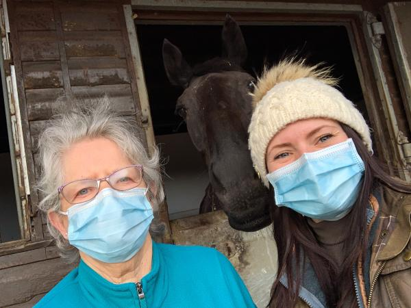 Edwardstow Court reunited one of their residents with her racehorses