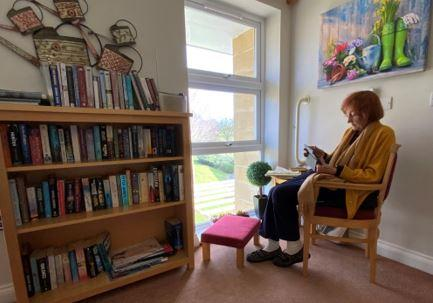 Changing spaces - Murial's idea to create a reading room