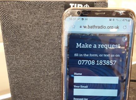 A gift from Bath Radio makes residents' day!