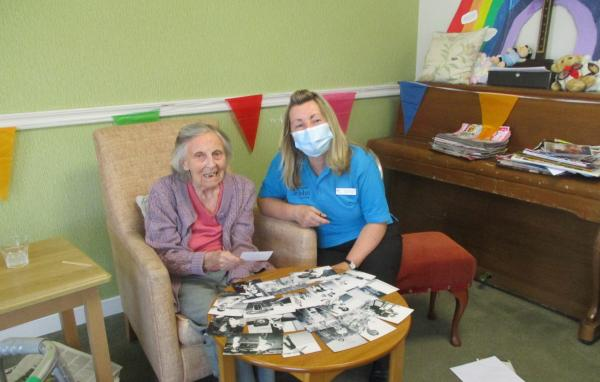 Reminiscence afternoon with Thelma at Whitefrairs