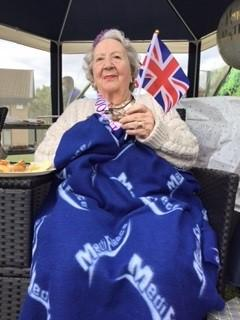 Thelma's 100th birthday celebrations at Foxby Court