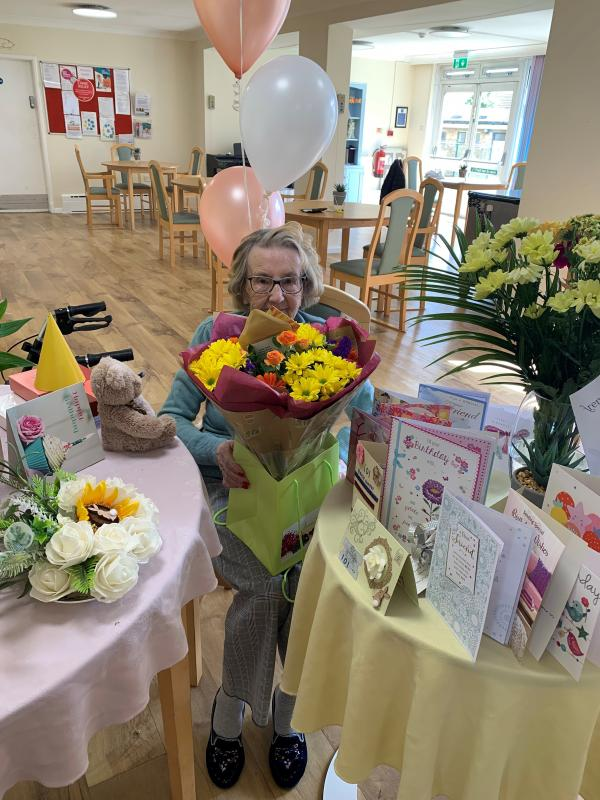 Freda from Ermine House celebrated her 101st Birthday