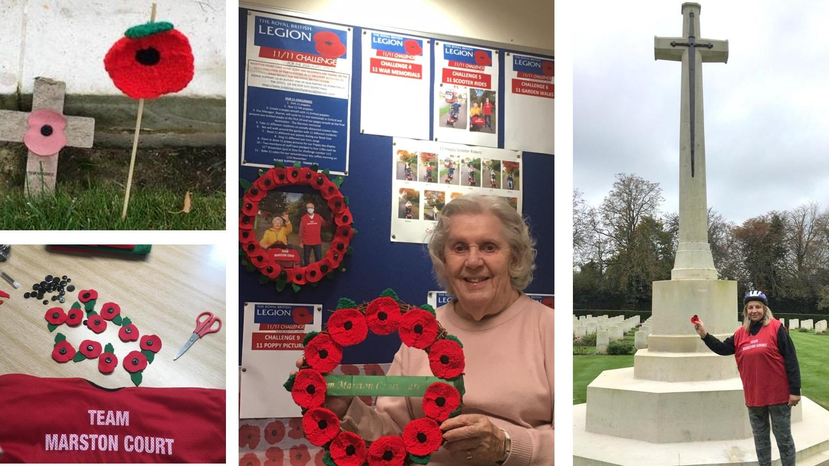 Poppy challenge at Marston Court