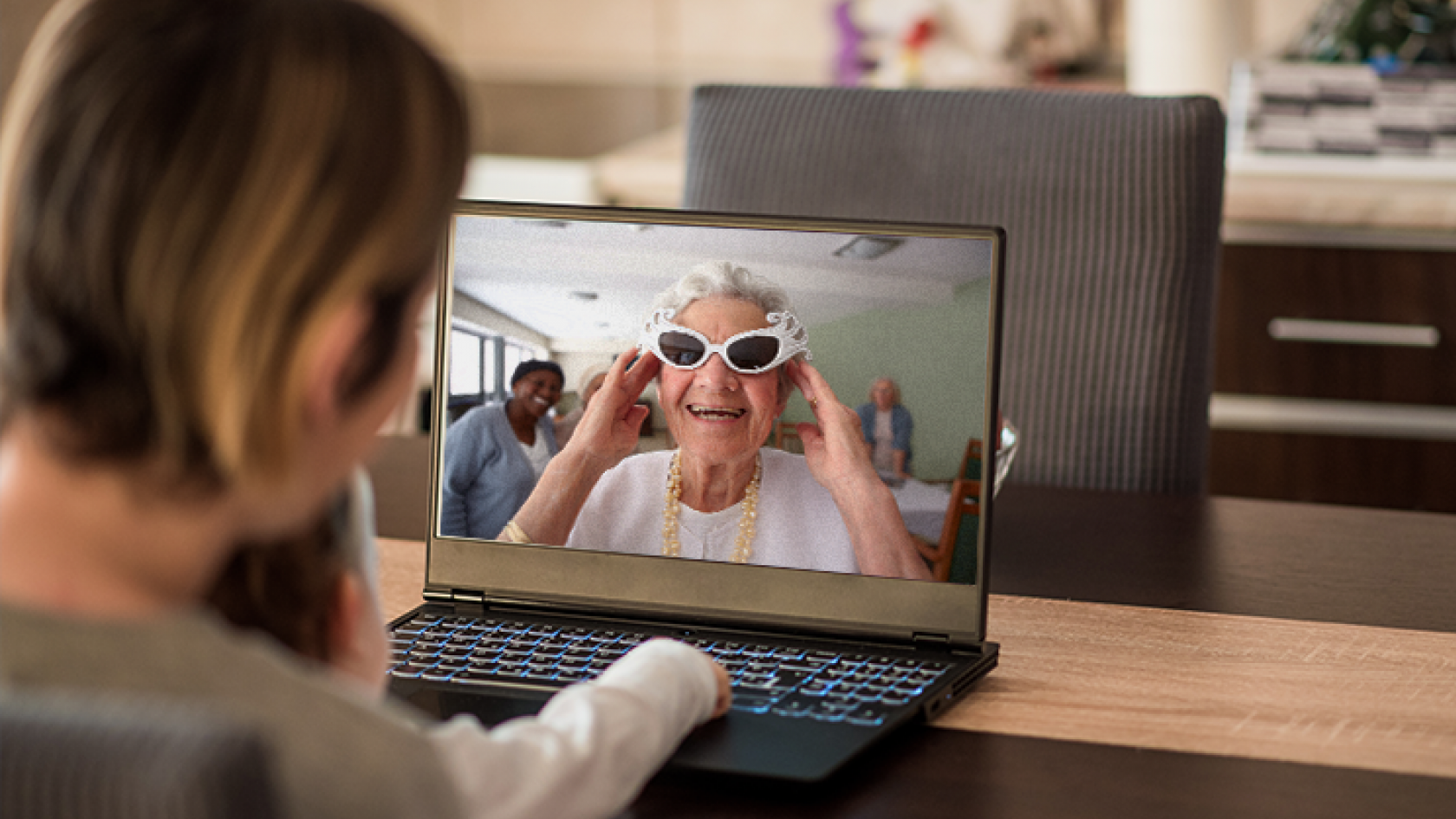 Virtual visit at an OSJCT care home