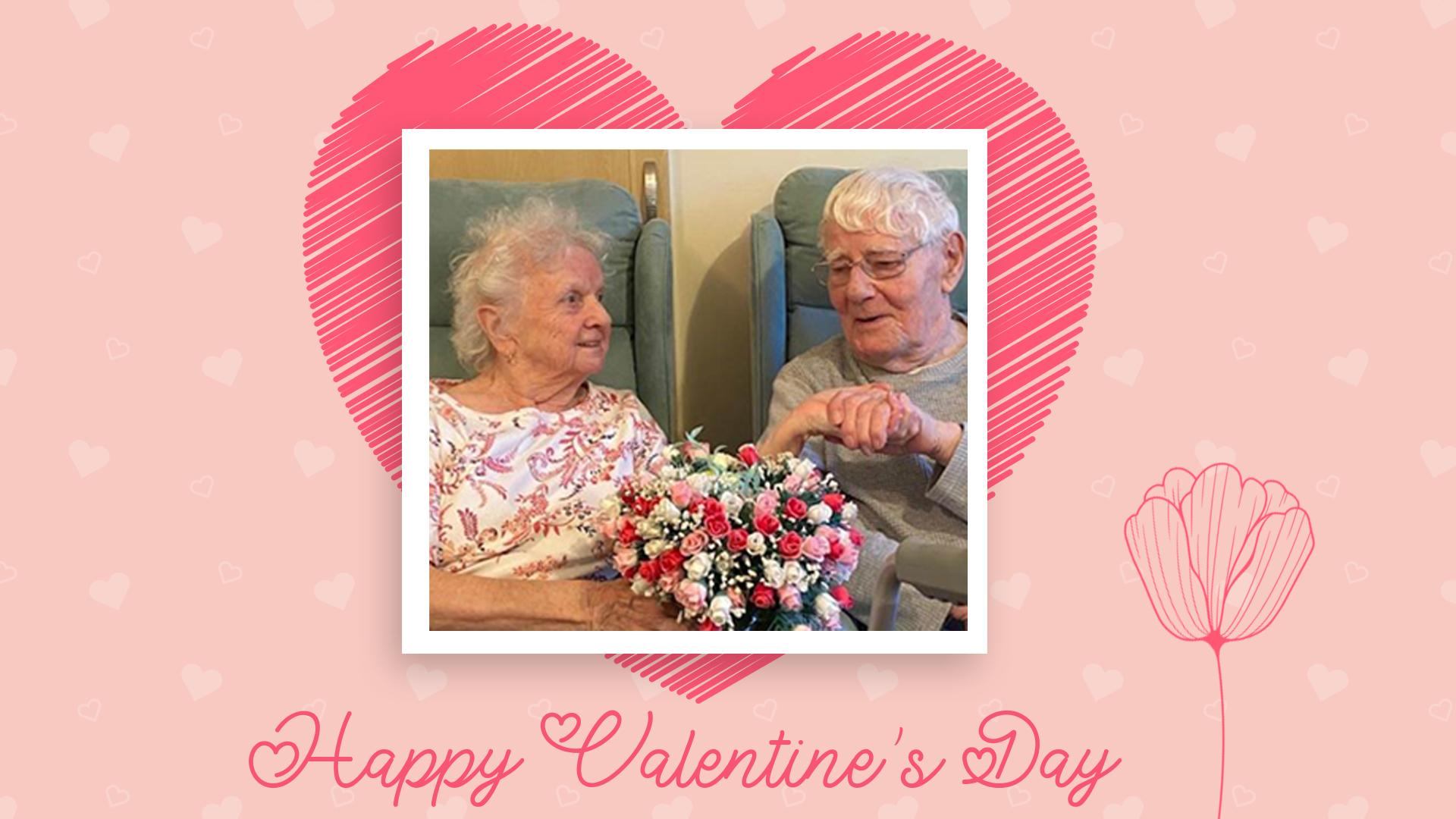 SId and Pat enjoy Valentine's Day