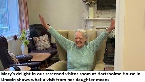 Mary welcomes her daughter to Hartsholme in Lincolnshire