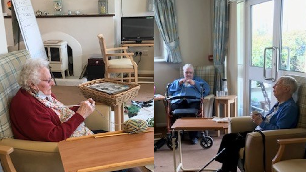 Mary, Ann and Iris at Lorna Doone Day Centre