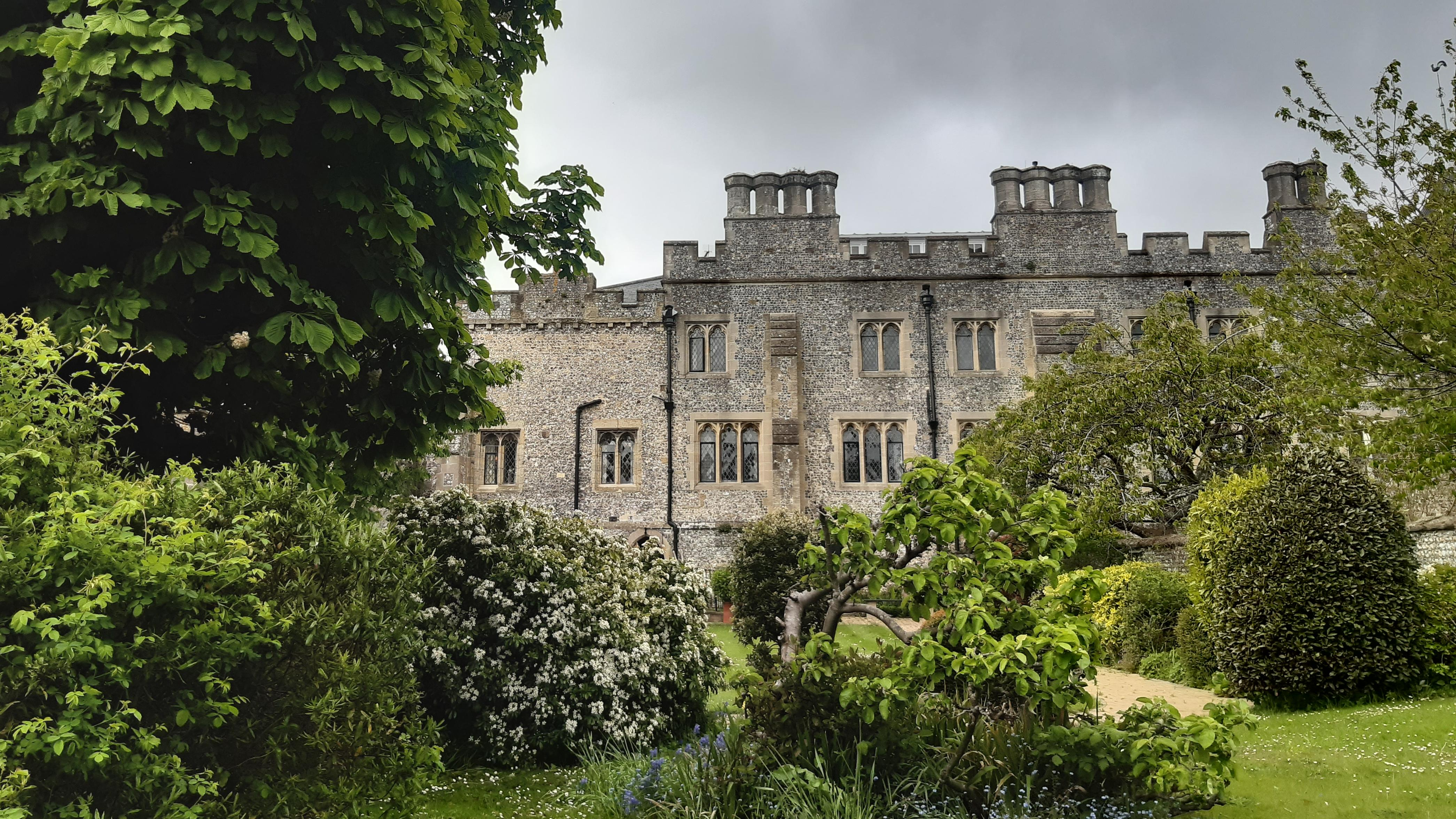 View of St Wilfrid's Priory from the garden