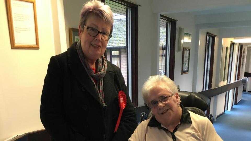 Labour Candidate Diana with Iris