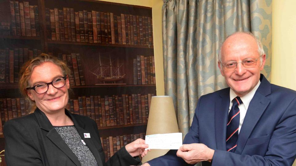 Jubilee Lodge charity donation
