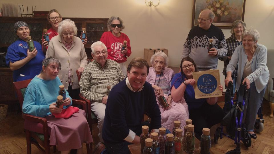 Residents enjoy tea-tasting at St Wilfrid's Priory Care Home