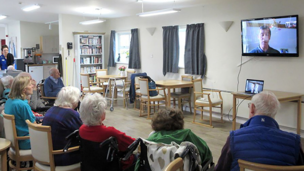 Marston Court were delighted with their Easter church service via Zoom