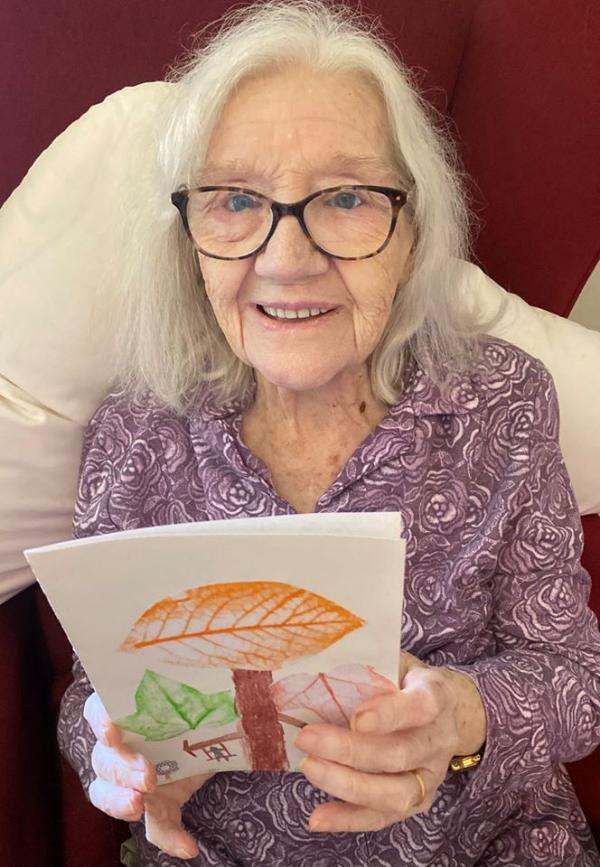 Henlow residents were overjoyed to receive cards and poems made by key worker's children