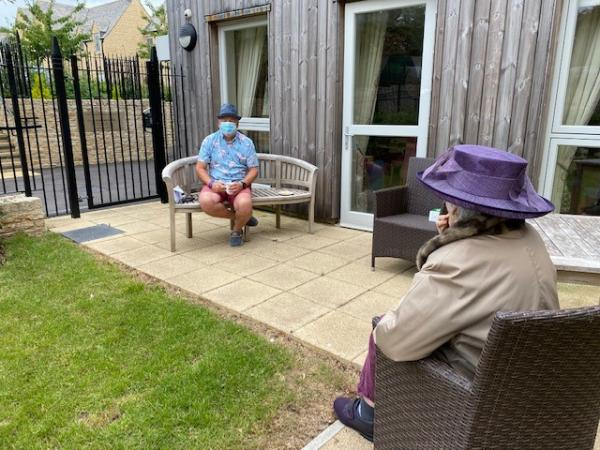 Family and friends visit Edwardstow Court